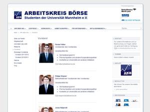 Weblayout Screenshot - Vorstand - akboerse