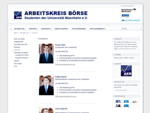 Weblayout Screenshot - Vorstand - akboerse
