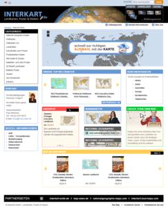 interkart Shop - ganze Startseite