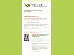Webdesign Newsletter vom Kochplaner