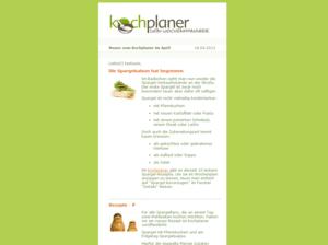 Newsletter Layout Beispiel vom Kochplaner