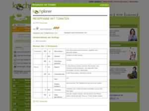 Webdesign Rezept Beispiel vom Kochplaner