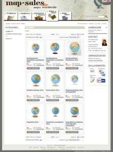 Globen Seite - komplette Ansicht - map-sales