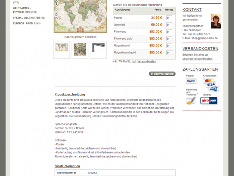 map-sales Magento E-Shop