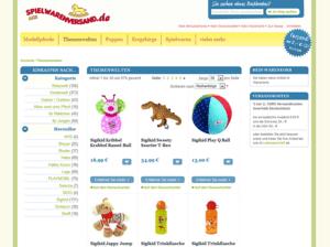 Kategorie Screenshot vom spielwarenversand.de