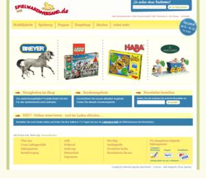 ganze Webseite Screenshot Webdesign vom spielwarenversand.de