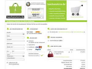 Kasse Screenshot taschenstore.de