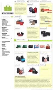 Screenshot ganze Seite taschenstore Shop