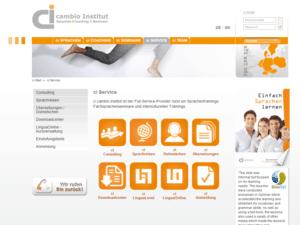 cambio-institut services Screenshot
