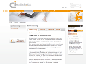 cambio-institut Stimmcoaching Screenshot