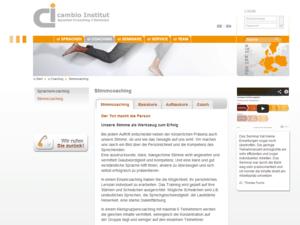 cambio-institut Stimmcoaching Screenshot
