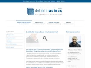 Responsive Webdesign Detektiv Acinus - Beispielseite