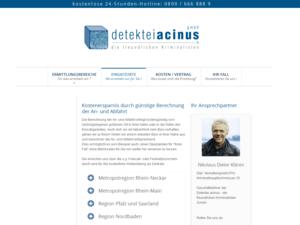 Responsive Web Design Detektiv Acinus Einsatzorte