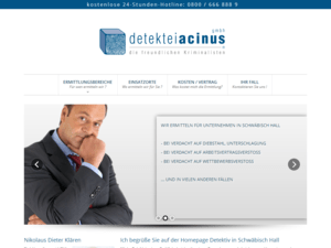 responsive Webdesign Detektiv Acinus Startseite