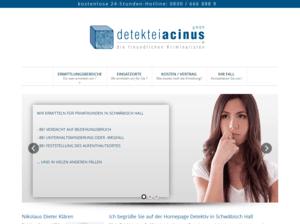 Responsive Webdesign Detektiv Acinus - Startseite