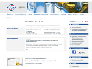 Webdesign fuchs-oil Startseite