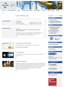 Webdesign fuchs-oil Startseite - ganze Webseite