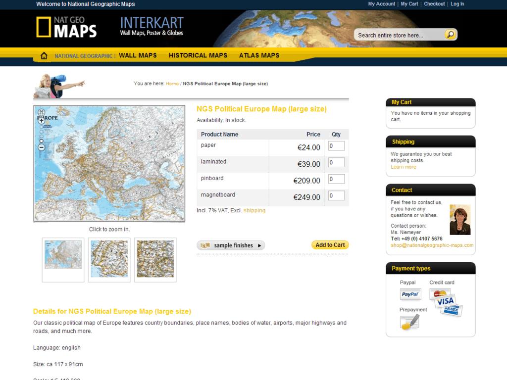 nationalgeographic-maps Shop – produktansicht