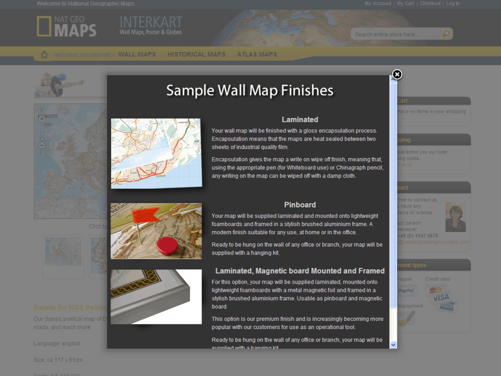 nationalgeographic-maps Shop – sample finsihes