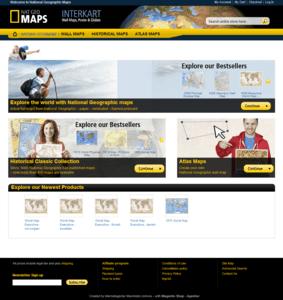 nationalgeographic-maps Shop - startseite ganze Webseite