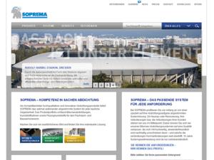 TYPO3 Webdesign der SOPREMA Klewa