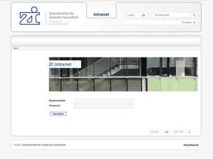 Intranet Layout der zi-mannheim Webseite