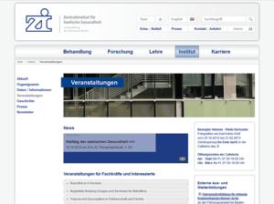 Website Layout der zi-mannheim Veranstaltung Webseite