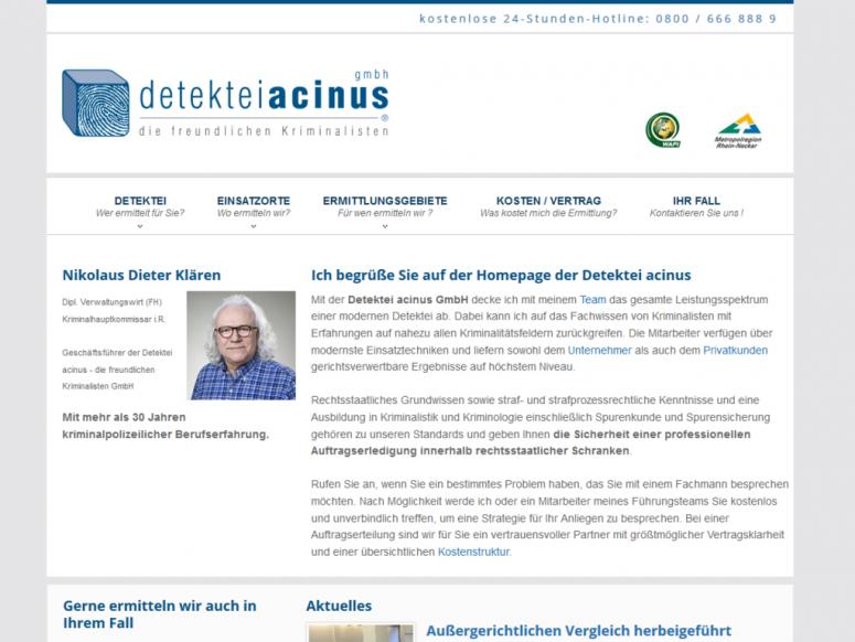 Detektei acinus GmbH, Metropolregion