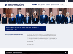 Weblayout Screenshot akboerse