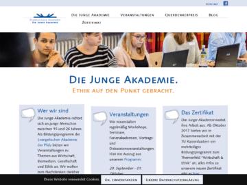 Neues responsive Webdesign für Die Junge Akademie - Startseite