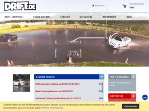 Responsive Webdesign für drift.de Shop - Startseite