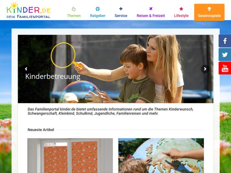 kinder.de, Familienportal