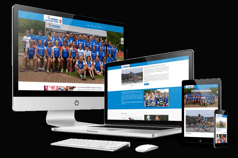 SOPREMA Triathlon Team mit TYPO3 in responsive Webdesign
