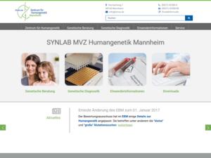 Responsive Webdesign für ZHMA Zentrum für Humangenetik - Startseite
