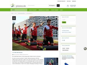 Blog-Seite im neuen E-Shop pilates.de