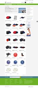 Produktgruppen-Seiter neuer E-Shop www.pilates.de