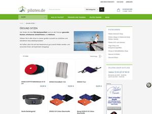 Produktgruppen-Seite im neuen E-Shop pilates.de