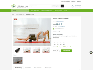 Produkt-Seite im neuen E-Shop pilates.de