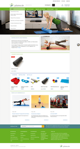 Neuer Magento E-Shop pilates.de - Startseite