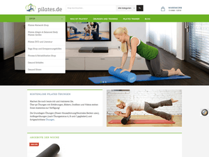 Startseite neuer E-Shop www.pilates.de
