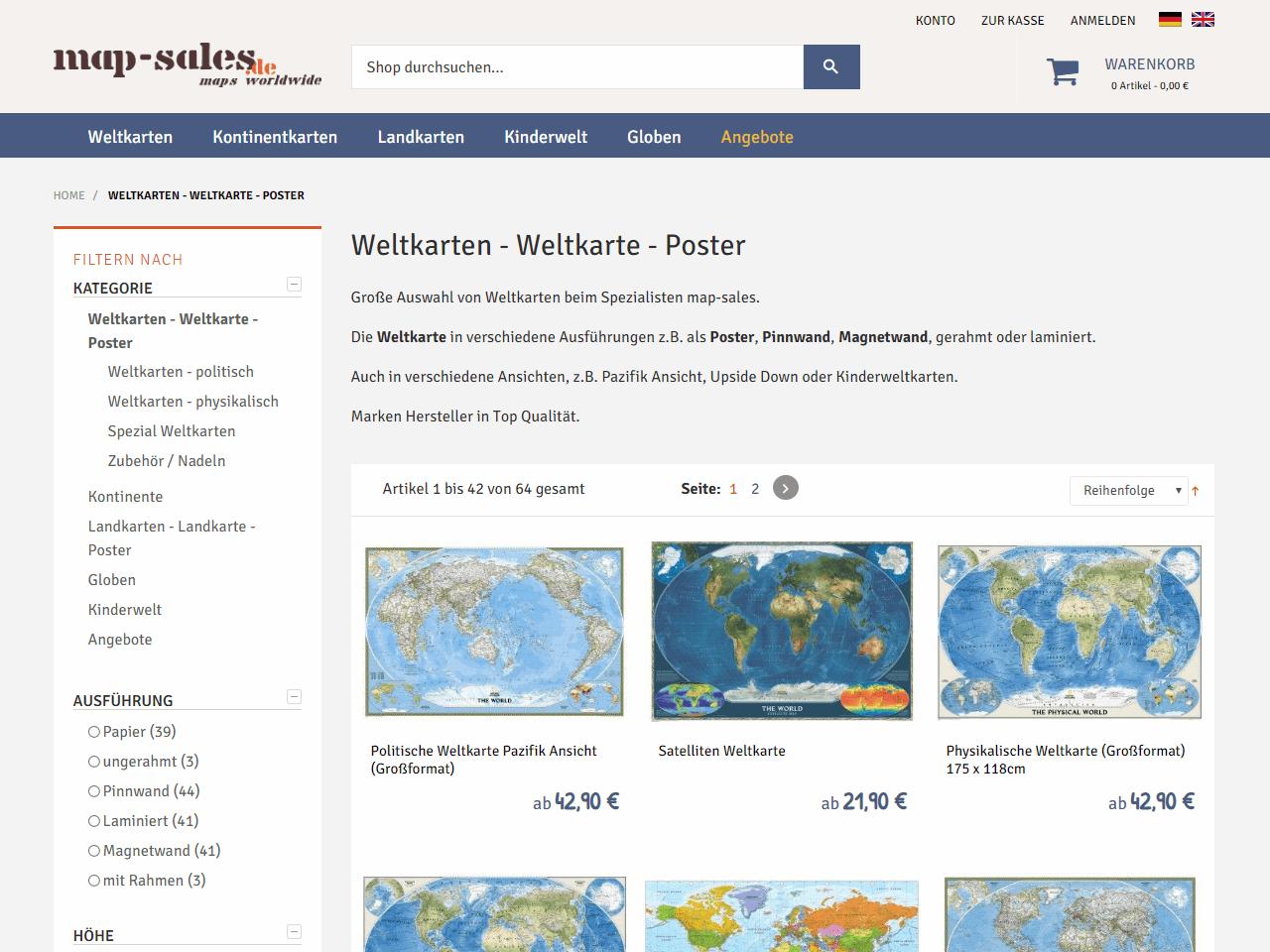 Magento Entwicklung responsive Webdesign map-sales