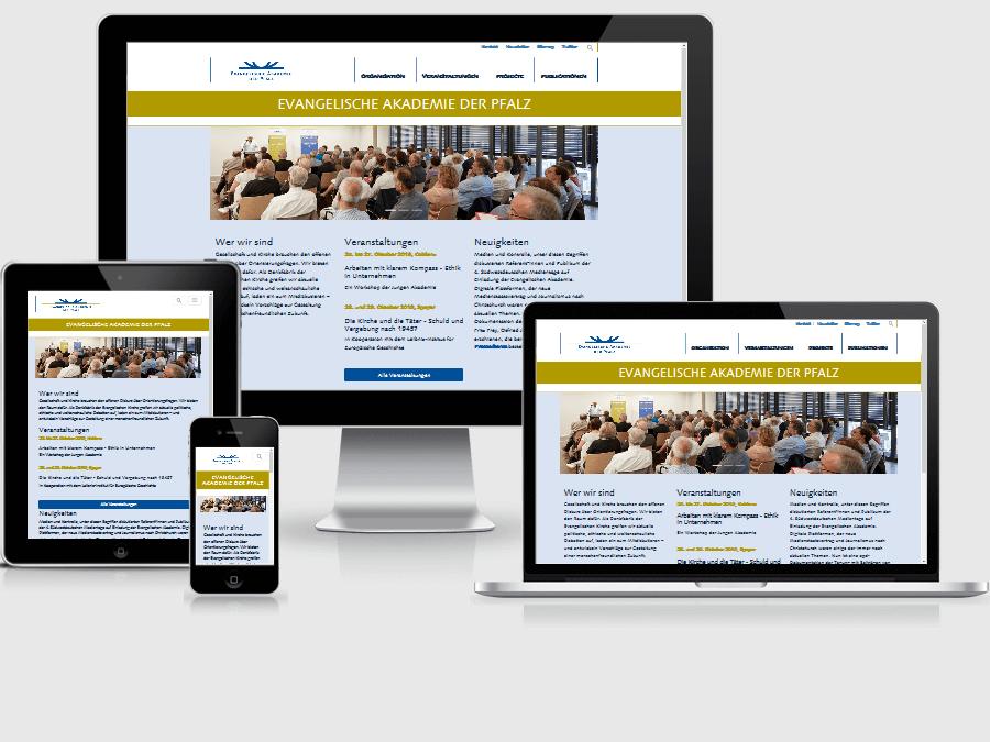 responsive Webdesign Evangelische Akademie der Pfalz