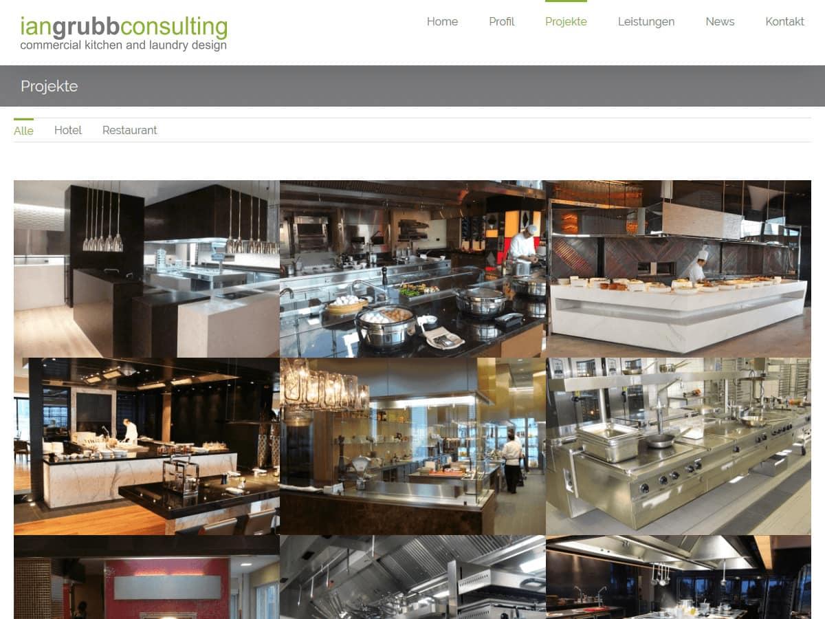 responsive Webdesign Ian Grubb Consulting, Projekte