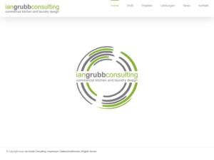 responsive Webdesign Ian Grubb Consulting, Startseite