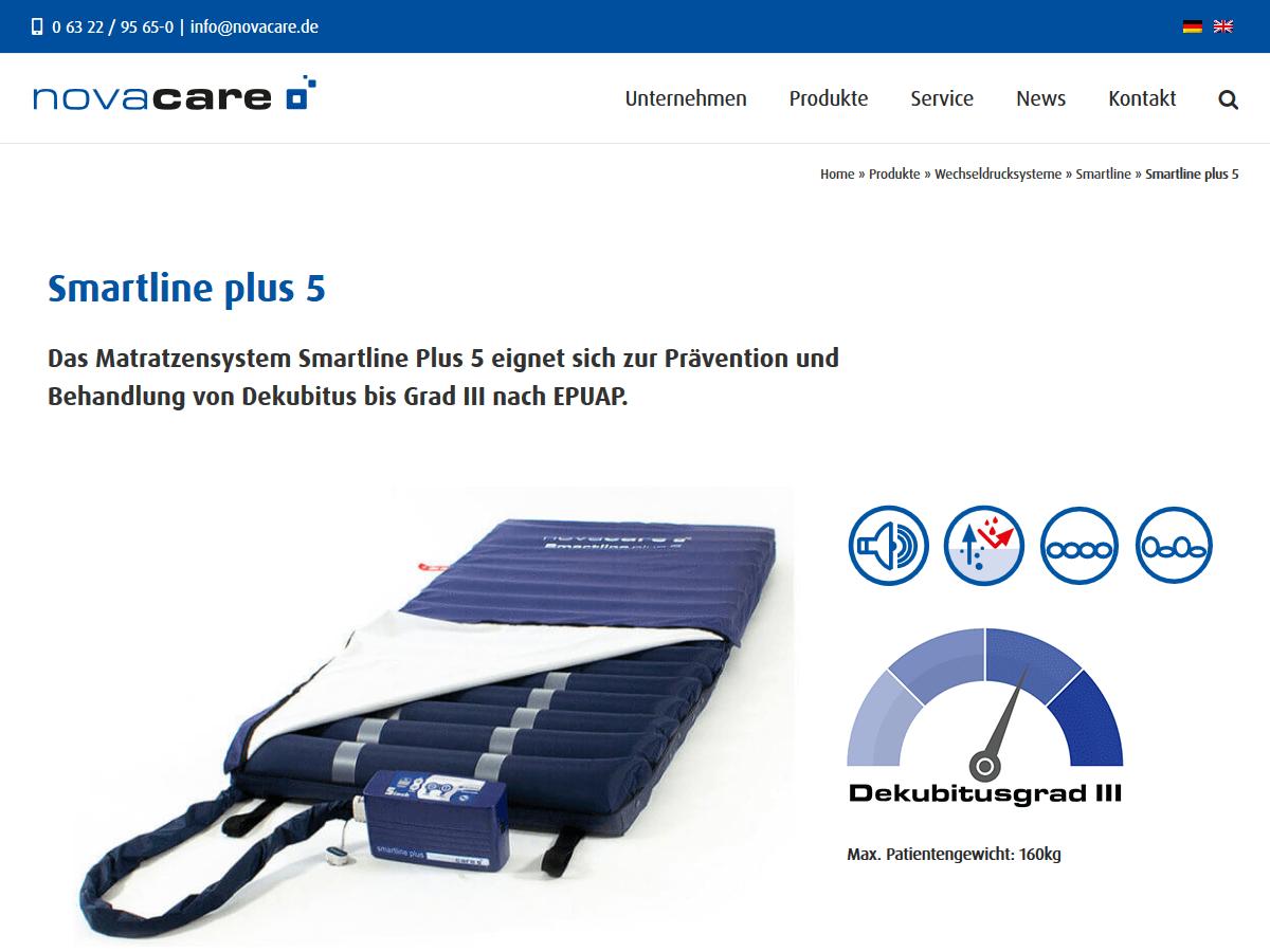 responsive Webdesign novacare GmbH, Produkt