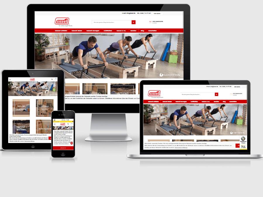responsive Webdesign sissel Shop