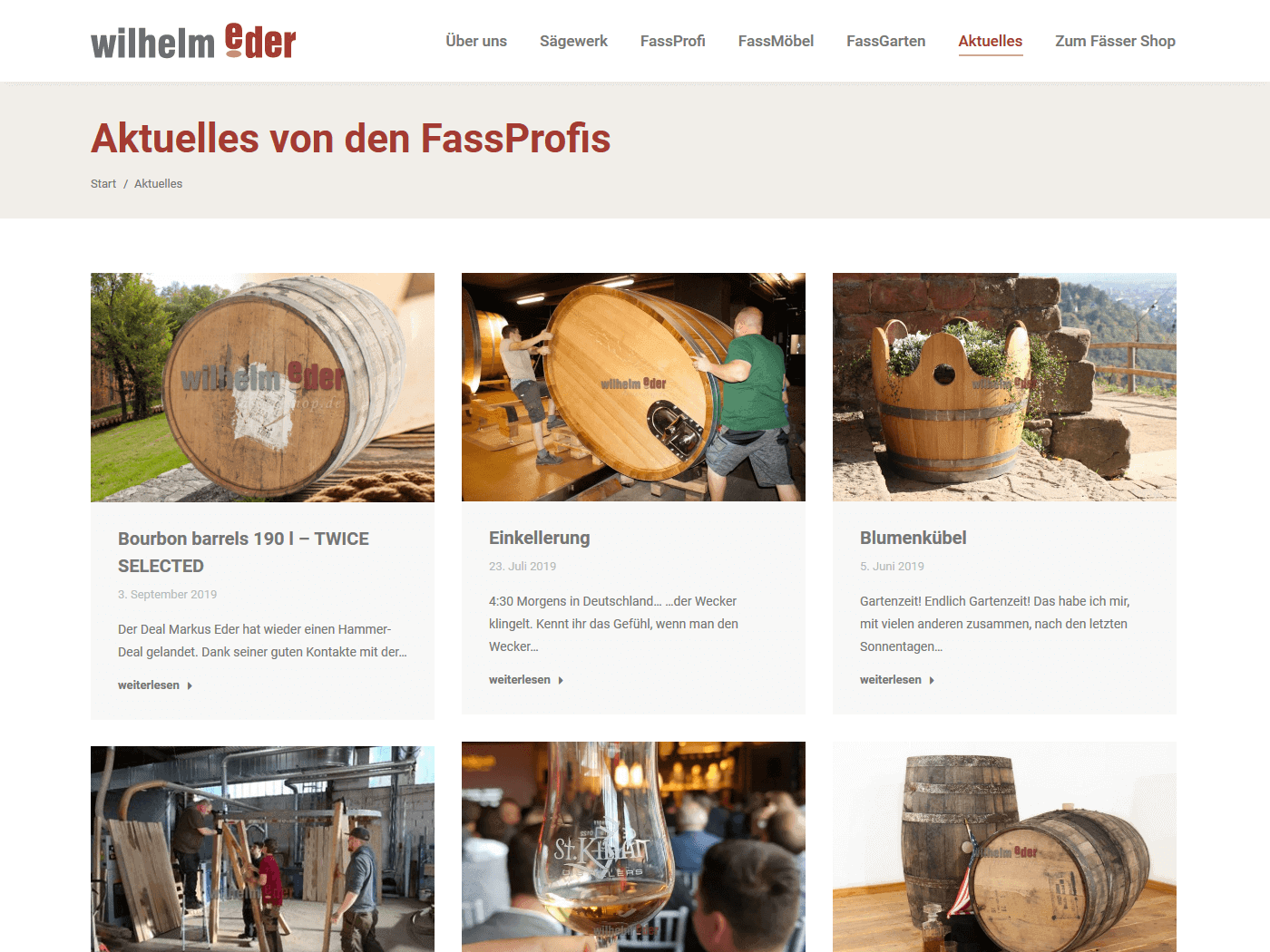 responsive Webdesign Wilhelm Eder GmbH, Aktuelles