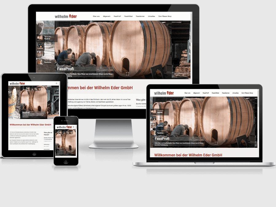 responsive Webdesign Wilhelm Eder GmbH