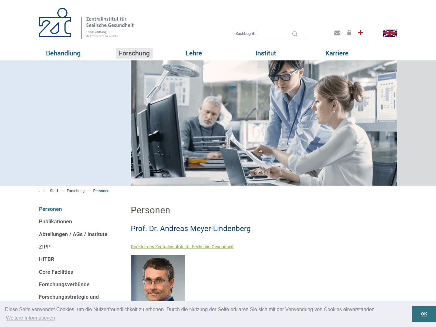 responsive Webdesign ZI Mannheim, Forschung
