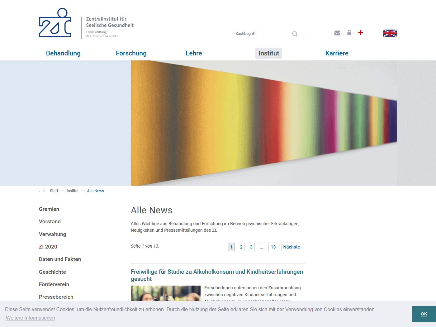 responsive Webdesign ZI Mannheim, News